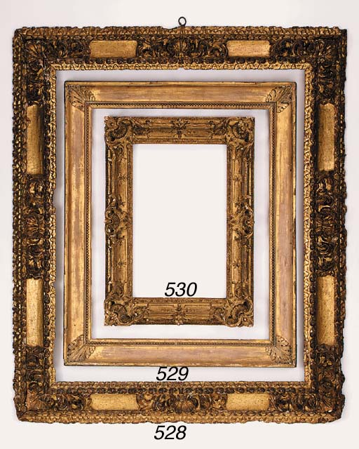 A French carved and gilded fra