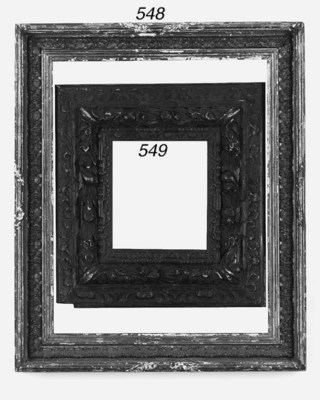 An Italian carved and ebonised