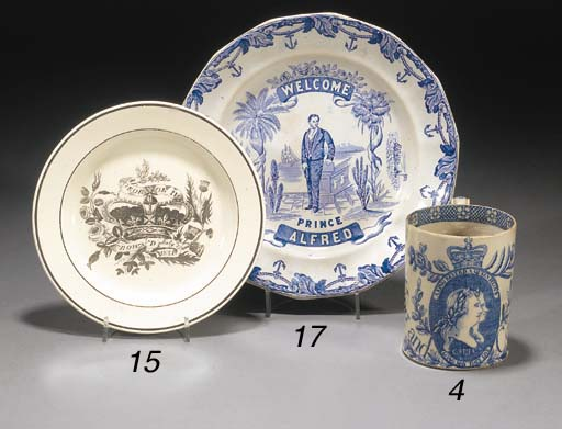 An English pearlware blue and