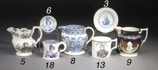 An English white stoneware cac