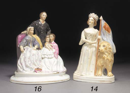 A Staffordshire figure of Quee