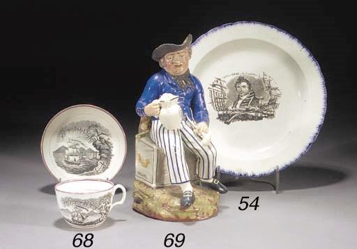 An English pearlware plate