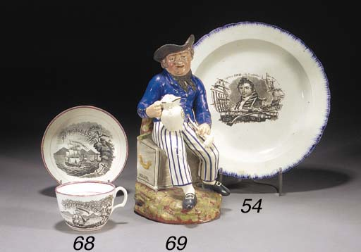 A pearlware 'Small' or 'Americ