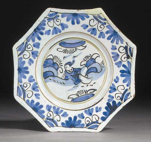 A English delft blue and white
