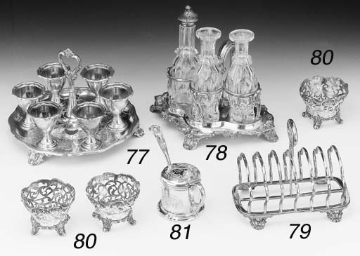 A VICTORIAN SILVER TOAST RACK