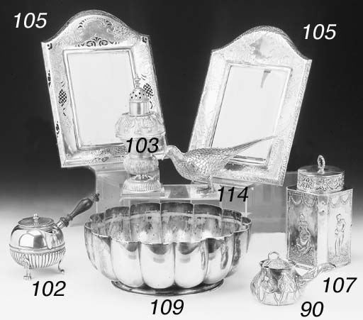 TWO AMERICAN SILVER PHOTOGRAPH