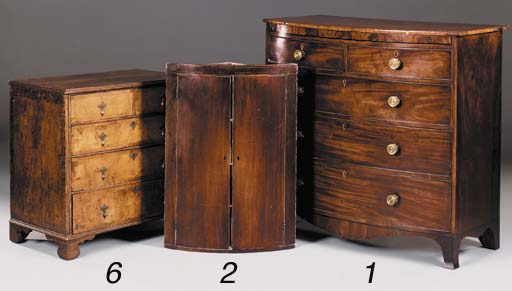A mahogany bowfront and line i