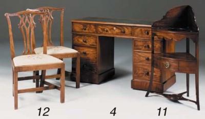 A Regency mahogany bowfront co