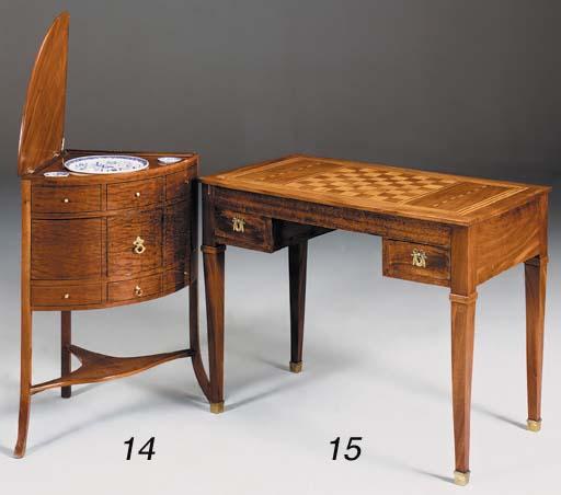A French mahogany and writing/