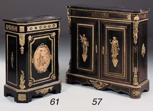 A Napoleon III ebonised and or