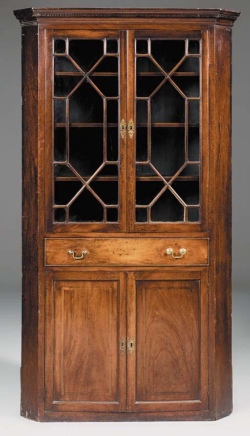 A George III mahogany corner c