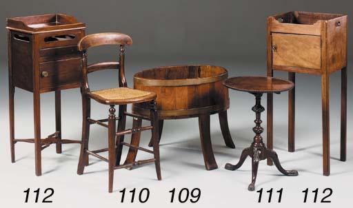 A small mahogany tripod table,