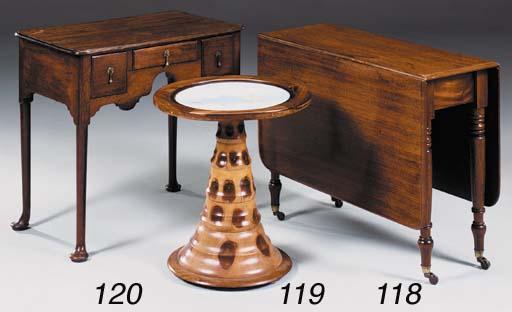 A mahogany drop leaf table, 19