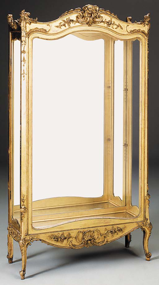 A giltwood and composite displ