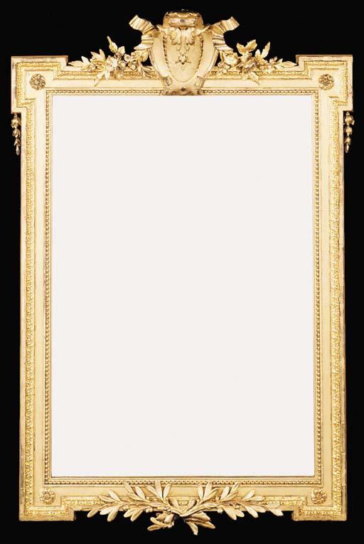 A gilt composition mirror, 20t