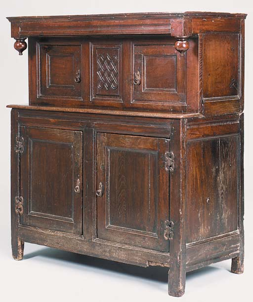 An oak press cupboard, possibl