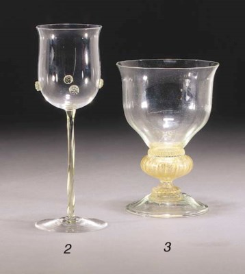 A POWELL WINE GLASS