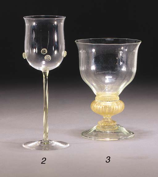 A POWELL SEA GREEN GOBLET