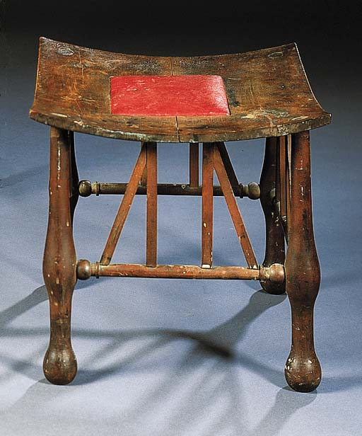 A BEECHWOOD THEBES STOOL