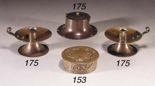 A ROYCROFT COPPER INKWELL