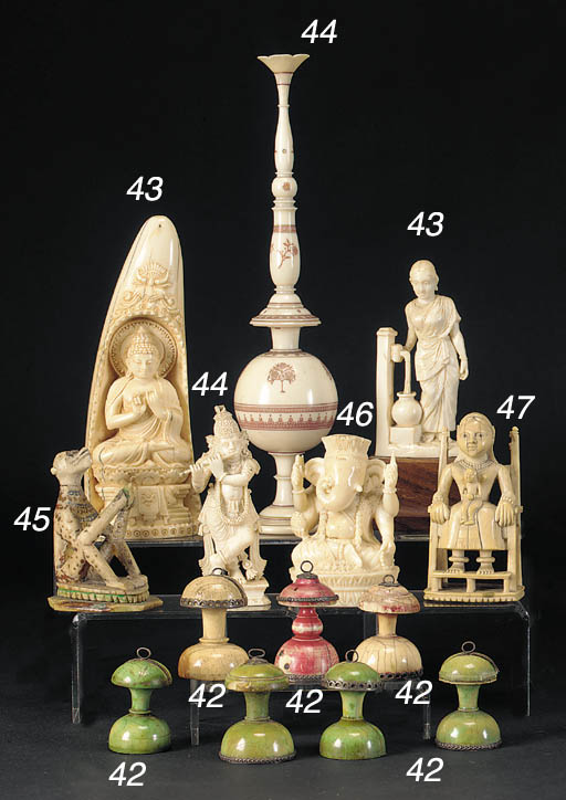 An Indian ivory figure of a mu