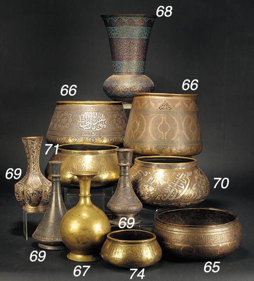 An Indian enamelled vase 19th