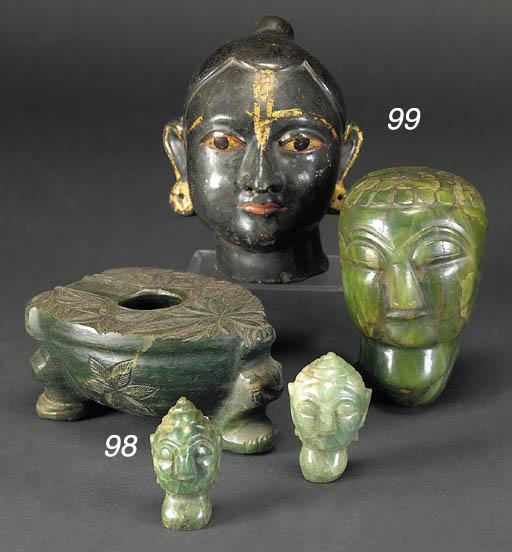 A western Indian marble head o