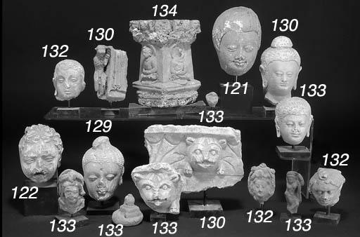 A Gandharan stucco buddha head