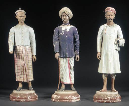 A set of four Indian painted p