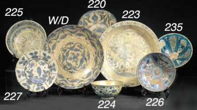 A Persian shallow footed bowl