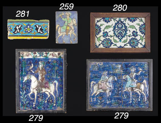A Damascus tile section First