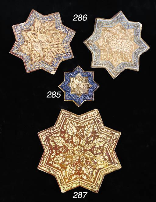 A Kashan star tile 13th/14th c