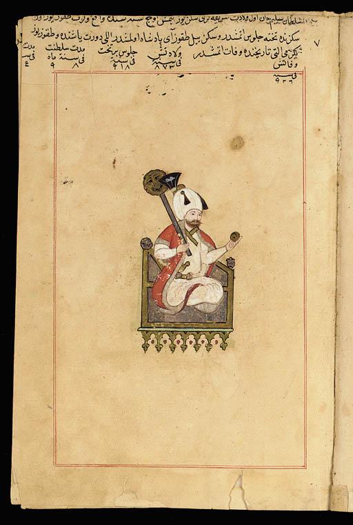 Seven folios from a manuscript