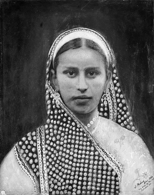 Portrait of a woman J. Hubert,