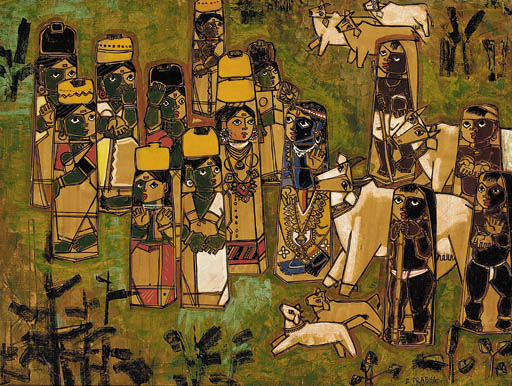 Krishna and the Gopis B. Prabh