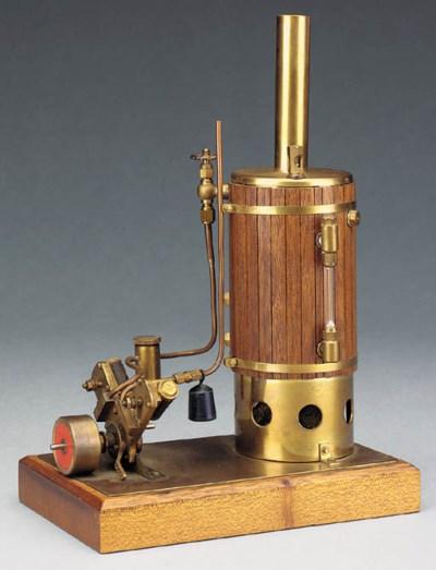 A small spirit-fired brass ver