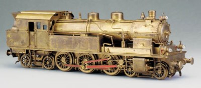 A detailed Gauge 1 brass three