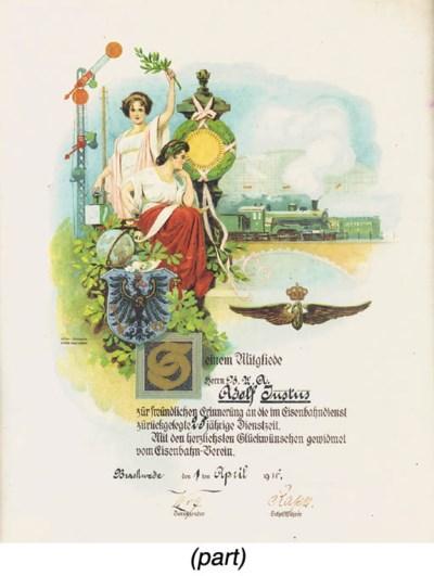 A coloured lithographic citati