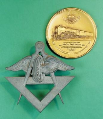 A gilded white-metal commemora
