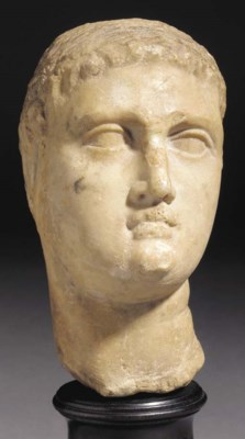 A HELLENISTIC MARBLE HEAD OF A