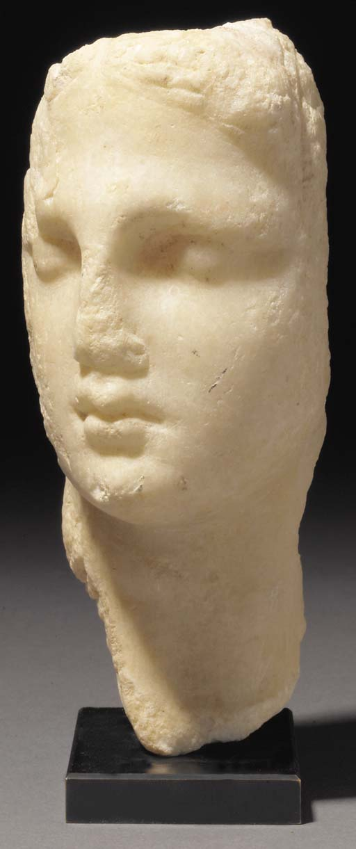 A MARBLE PORTRAIT HEAD OF ARSI