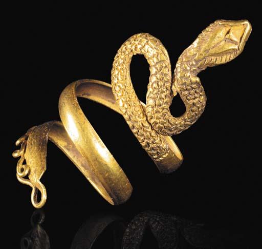 A ROMANO-EGYPTIAN GOLD 'SNAKE'