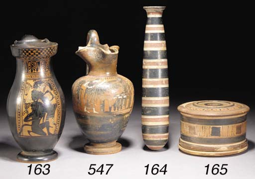 A LARGE ETRUSCAN POTTERY ALABA
