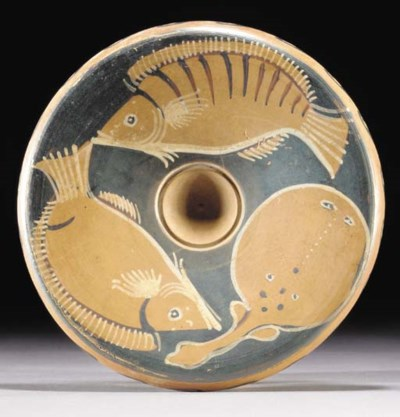 A CAMPANIAN RED-FIGURE FISH PL