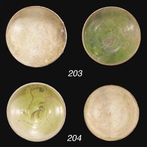 A BYZANTINE GREEN GLAZED SCRAF