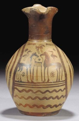 A GREEK GEOMETRIC POTTERY TREF