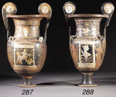 AN APULIAN RED-FIGURE VOLUTE-K
