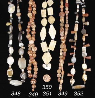 SEVEN EGYPTIAN GLAZED COMPOSIT