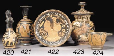 AN APULIAN RED-FIGURE PLATE AT