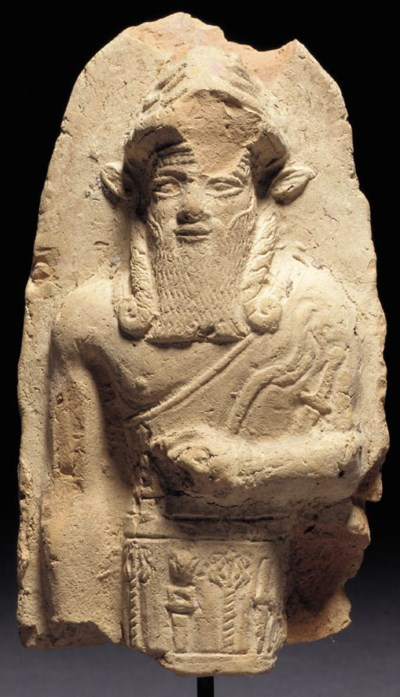 AN OLD BABYLONIAN TERRACOTTA F